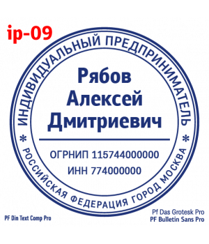 Образец печати для ИП #9