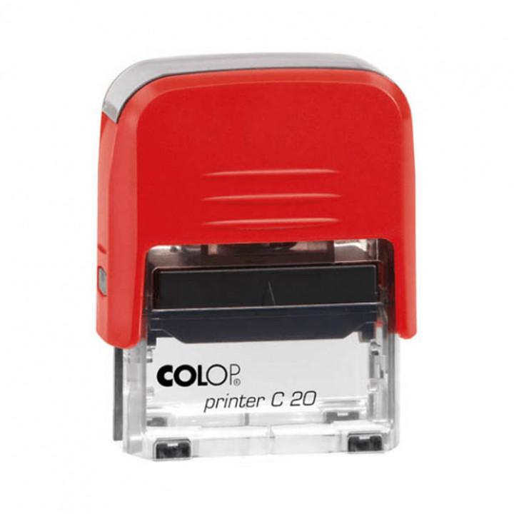 Colop Printer C20 Compact Transparent. Цвет корпуса: красный