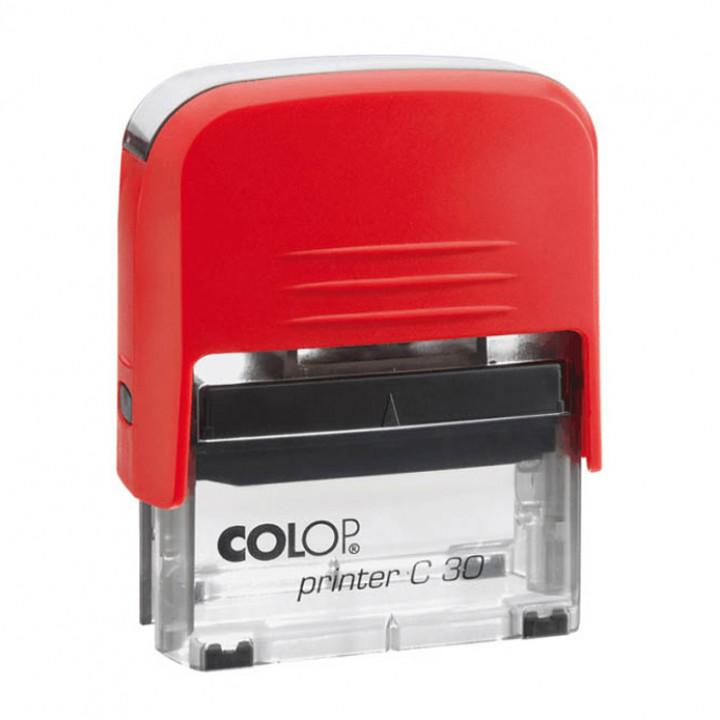 Colop Printer C30 Compact Transparent. Цвет корпуса: красный