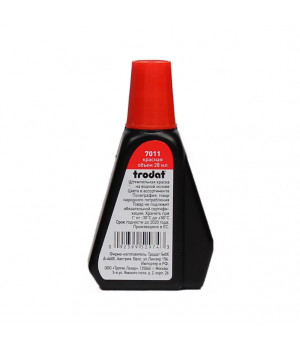 Trodat 7011, 28 мл. Цвет краски: красный