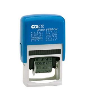 Colop Printer S 220 / W ЛАТ. Цвет корпуса: синий