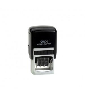 Colop Printer 52 - Dater Банковский. Цвет корпуса: черный