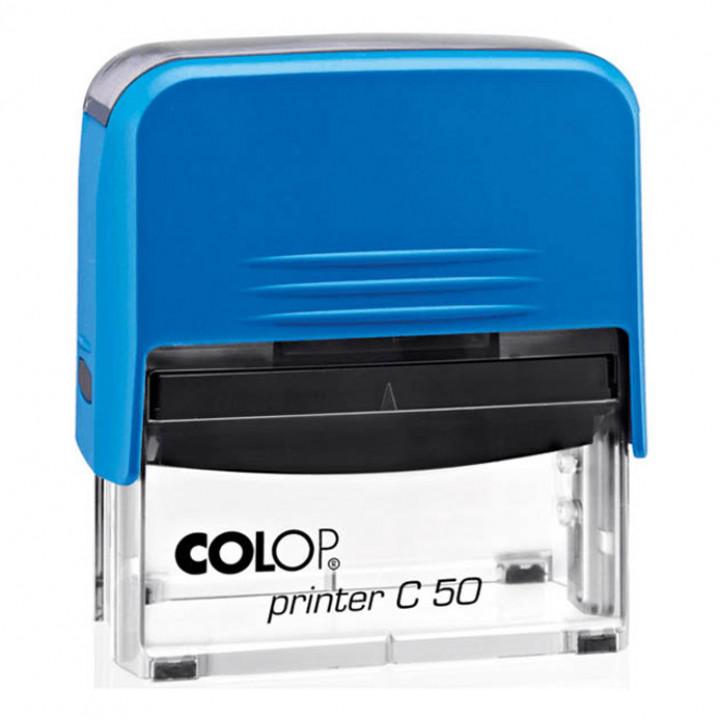 Colop Printer C50 Compact Transparent. Цвет корпуса: синий