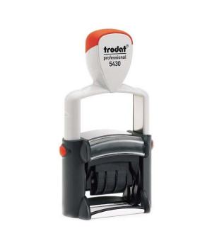 Trodat Professional Line 5430 Банковский. Цвет корпуса: черно-белый