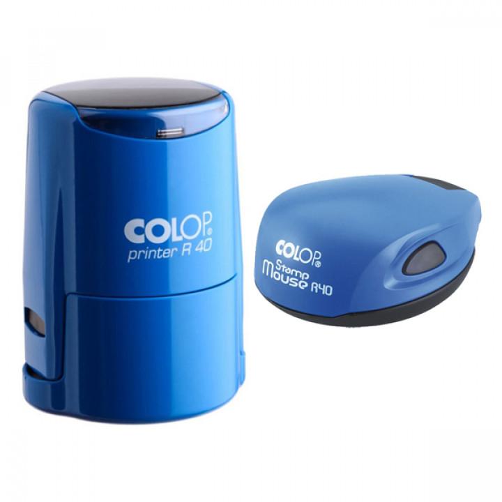 Colop SET R40. Цвет корпуса: синий