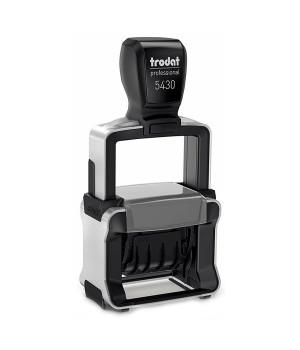 Trodat Professional Line 5430 4.0 Банковский для Таможни РФ, с неокрашенной подушкой. Цвет корпуса: черный с серебром