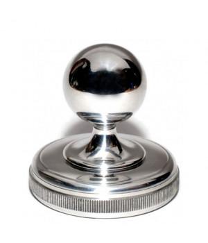 Металлическая блестящая ШАР D40 (РБ) ***Серебро