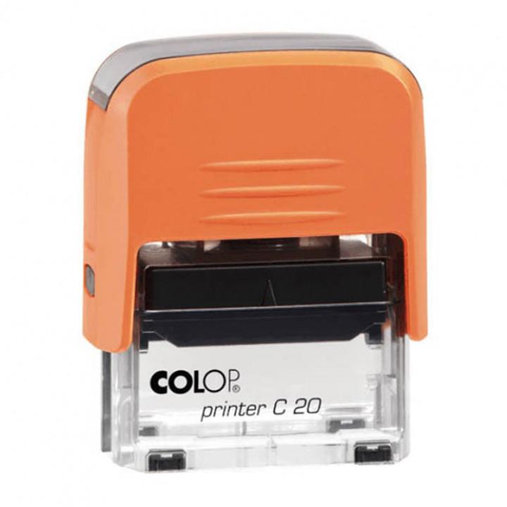 Colop Printer C20 Compact Transparent. Цвет корпуса: оранж