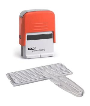 Colop Printer C20/3 Set РУС. Цвет корпуса: красный