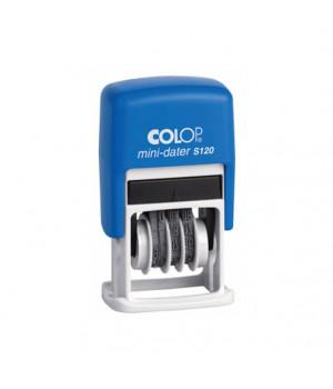 Colop Printer S 120/SD с сокращенной датой. Цвет корпуса: синий